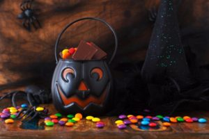 Halloween candy trick-or-treat