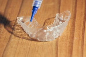 teeth whitening tray blue tube
