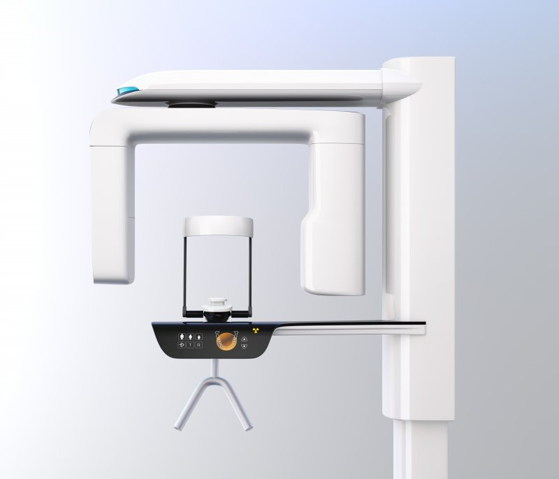 Side view of a dental cone beam scanner